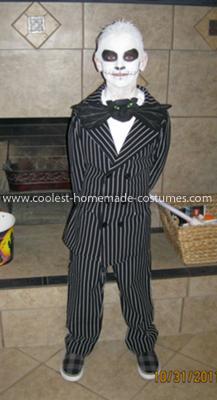 Homemade Jack Skelllington Costume
