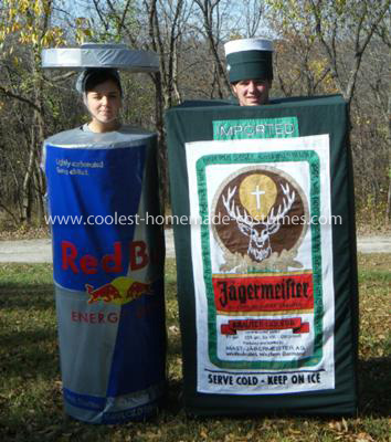 Homemade Jager Bomb Couple Costume