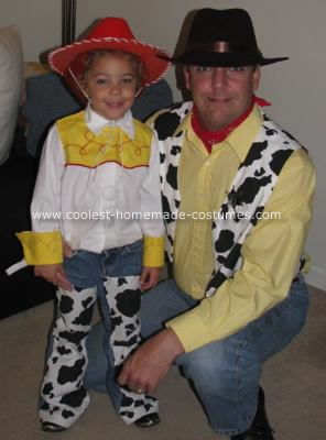 Homemade Jessie and Woody Costumes from Toy Story 2