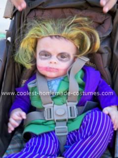 Homemade Joker Baby Costume