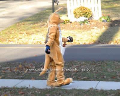 Homemade Kangaroo DIY Costume