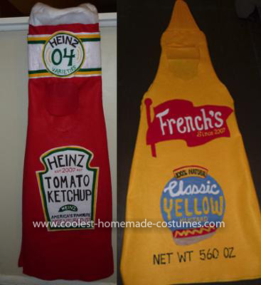 Homemade Ketchup and Mustard Costume