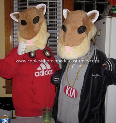 Homemade KIA Soul Hamsters Costume