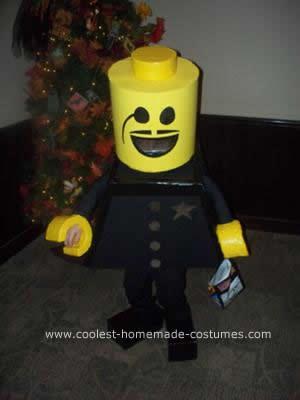 Homemade Lego Cop DIY Halloween Costume