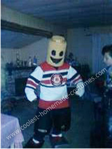 Lego Hockey Man DIY Halloween Costume