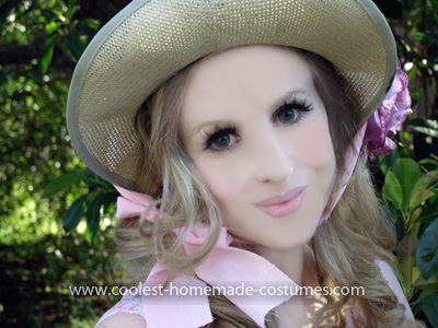Coolest Lil Bo Peep Costume - Closeup of hat and makeup