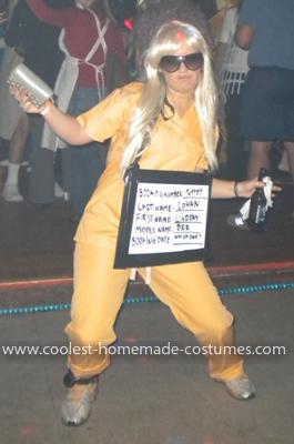Homemade Lindsay Lohan Costume