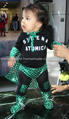 Coolest Luchadora Baby Costume - a good view of the lace up boots