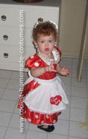 Homemade Little Lucille Ball Costume