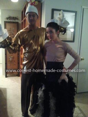 Homemade Lumiere and Babette Couple Costume