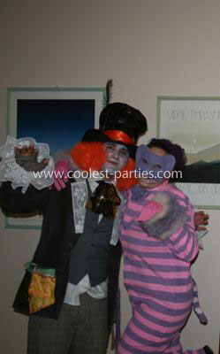 Homemade Mad Hatter and Cheshire Cat Costumes