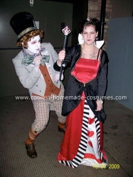 Homemade Mad Hatter and Queen of Hearts Costumes