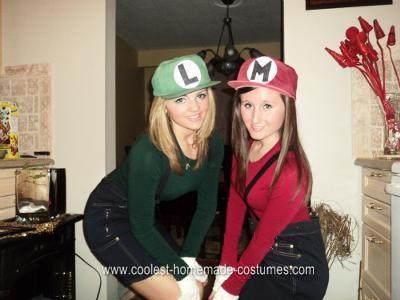 Homemade Mario Brothers Halloween Costume Idea