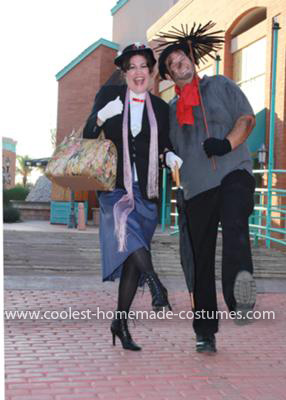 Homemade Mary Poppins and Bert Couple Costume