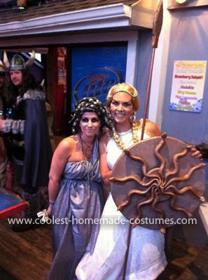 Homemade Medusa and Athena Costumes