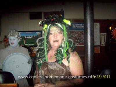 Homemade Medusa Wig http://www.coolest-homemade-costumes.com/coolest-medusa-and-statue-couples-costume-11.html