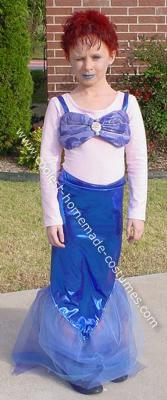 Blue Rose Mermaid Costume