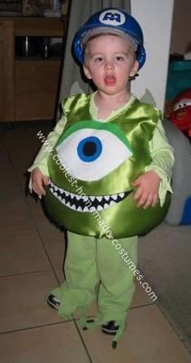 Homemade Mike Wazowski Costume