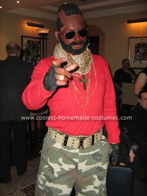 Homemade Mister T Costume