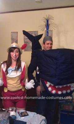 Homemade Monstro and Pinocchio Couple Costume