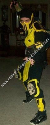 Mortal Kombat Scorpion DIY Halloween Costume Idea