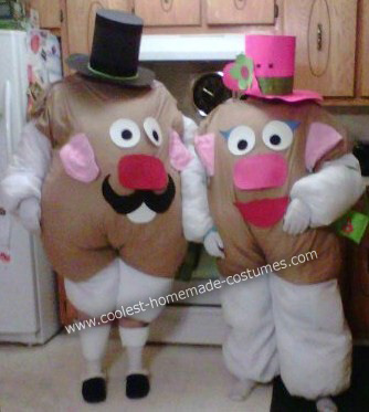 Mr and Mrs Potato Head Couple DIY Halloween Costume