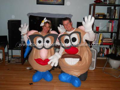 Coolest Mr. and Mrs. Potato Head Couple Homemade Costume