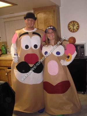Homemade Mr. and Mrs. Potato Head DIY Halloween Costume Idea