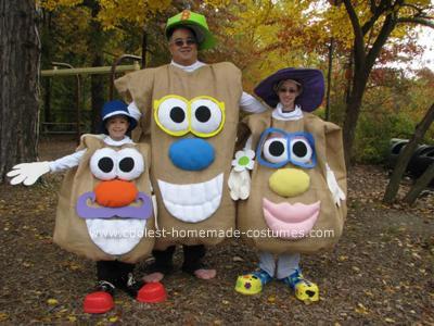 Homemade Mr. Potato Head Family Costume