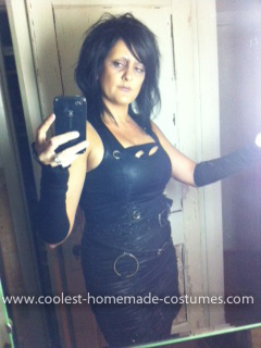 Homemade Mrs. Scissorhands Costume