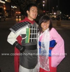 Homemade Mulan and Shang Costumes