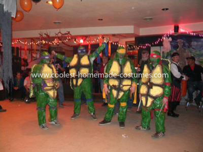 Homemade Ninja Turtles Group Costume