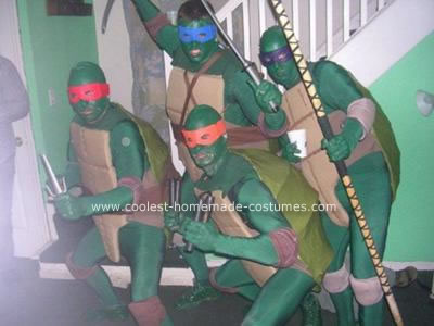Ninja Turtles Homemade Halloween Group Costume