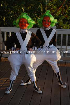 Homemade Oompa Loompa Costume