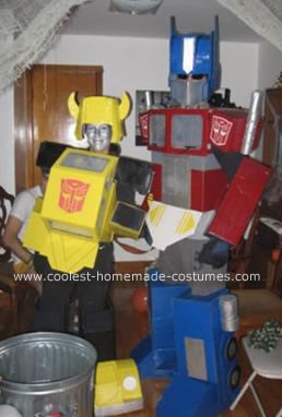 Optimus Prime and Bumblebee Costume