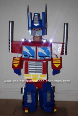 Homemade Optimus Prime Child Costume