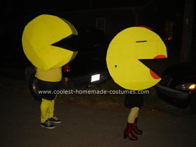 Homemade Pac Man and Ms. Pac Man Costumes