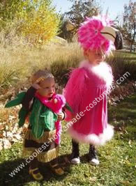 Homemade Palm Treen and Flamingo Costumes