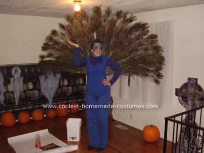 Homemade Peacock DIY Halloween Costume