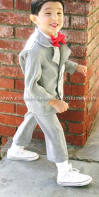 Homemade Pee Wee Herman Child Costume