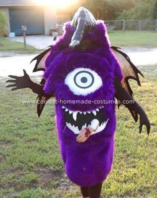 One eyed one horn flying purple people eater costume