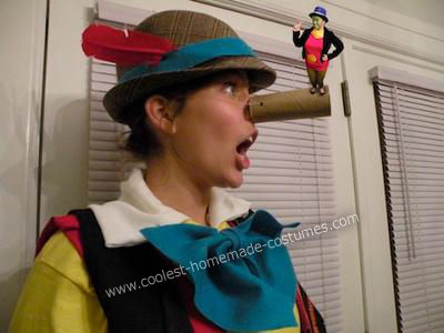Pinocchio and Jiminy Cricket Couple Costume - okay, so it's photoshopped, but isn't it cute?