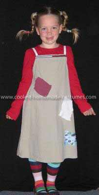 Homemade Pippi Longstocking Costume