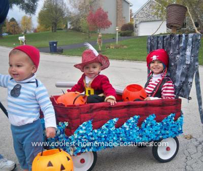 Coolest Pirate, Captain Hook, and Smee Costume with Pirate Ship 31