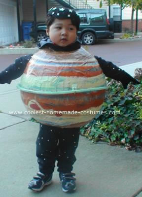 Homemade Planet Jupiter DIY Costume with Skinny Ring