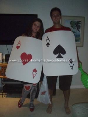 Homemade Pocket Aces Couple Costume