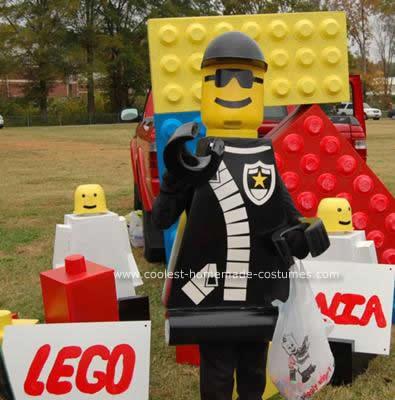 Homemade Police Officer Lego Man Costume