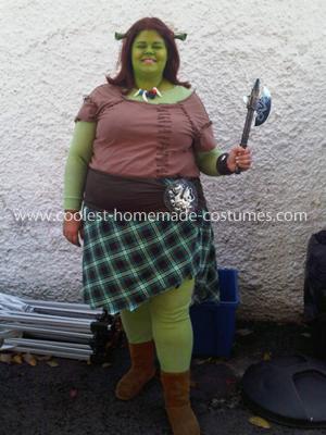 Homemade Princess Fiona Costume
