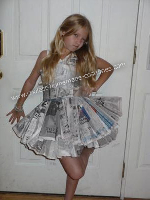 Recycled Newspaper Costume