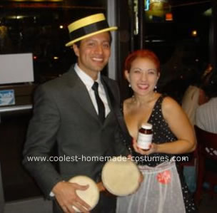 Homemade Ricky and Lucy Ricardo Couple Costumes
